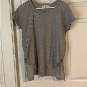 Grey high low shirt